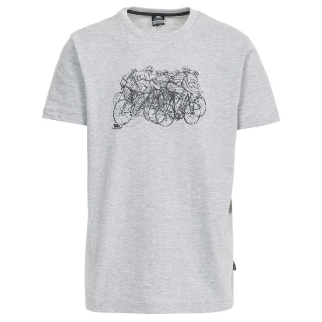 Wicky Men's Printed Casual T-Shirt in Light Grey