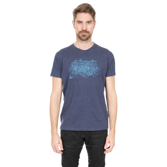 Wicky II Men's Quick Dry Casual T-Shirt in Navy