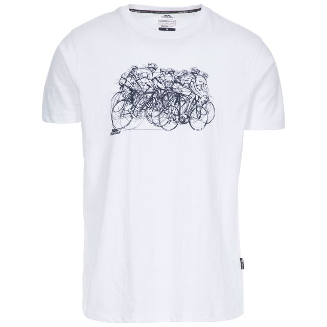 Wicky II Men's Quick Dry Casual T-Shirt in White, Front view on mannequin