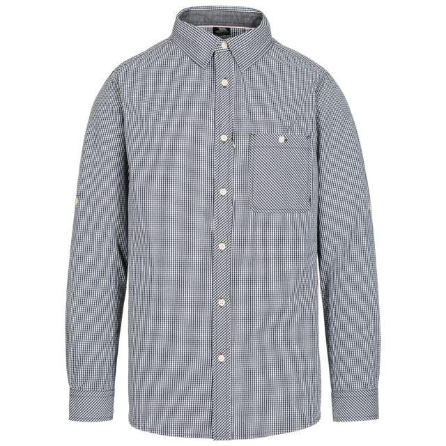 Yaddlethorpe Men's Cotton Shirt in Black