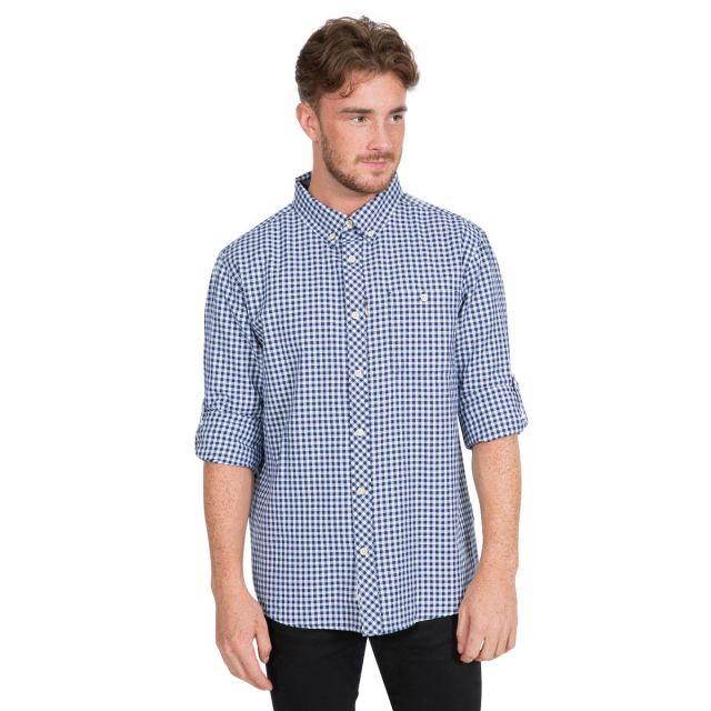 Yafforth Men's Cotton Shirt in Blue