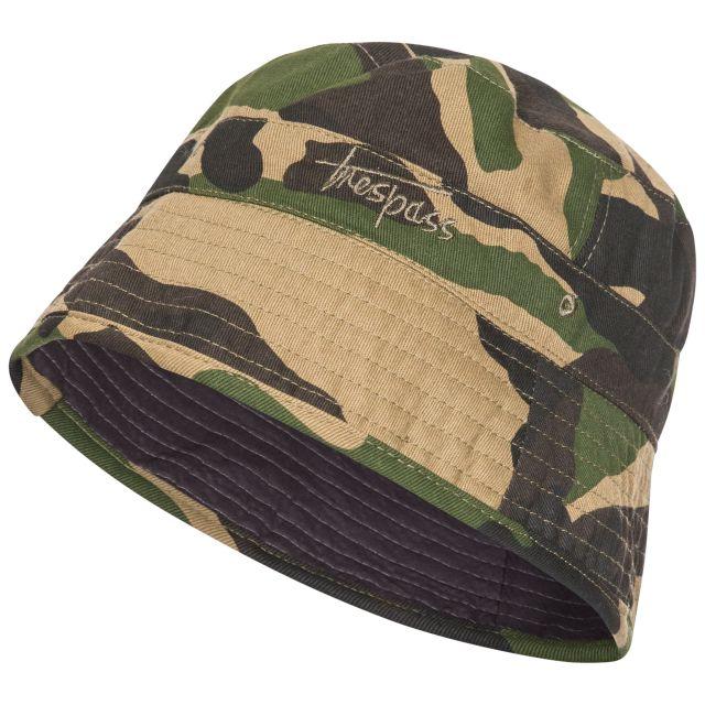 Zebedee Kids' Bucket Hat in Khaki, Hat at angled view