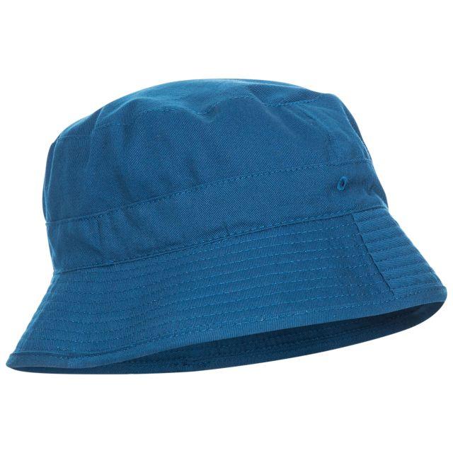 Zebedee Kids' Bucket Hat in Blue, Side view of hat