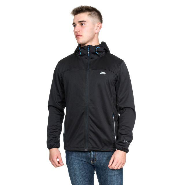 Zeek Men's Softshell Jacket in Black
