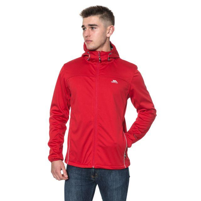 Zeek Men's Softshell Jacket in Red