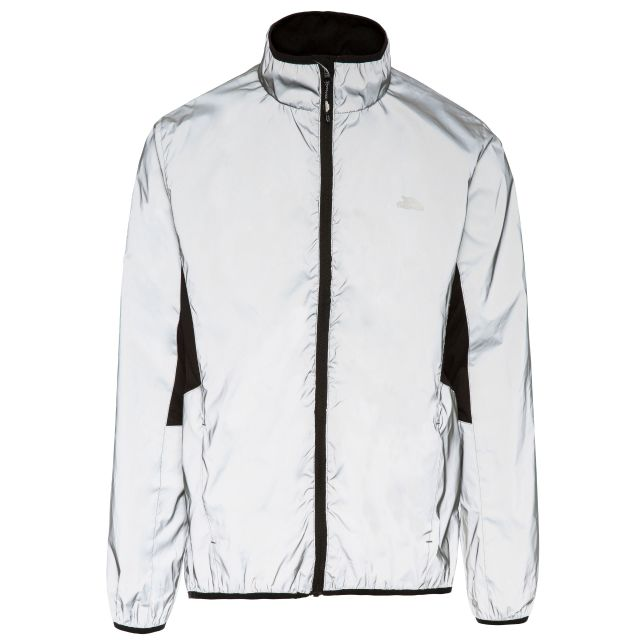 Zig Men's Ultra Reflective Active Jacket in Light Grey, Front view on mannequin