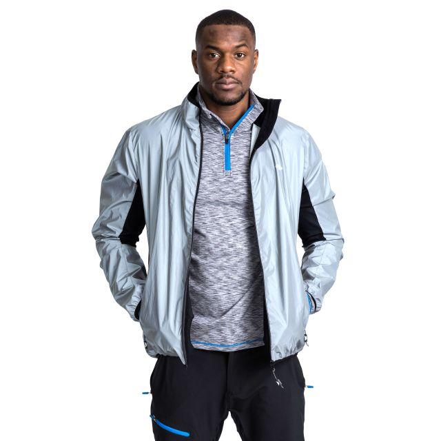 Zig Men's Ultra Reflective Active Jacket in Light Grey