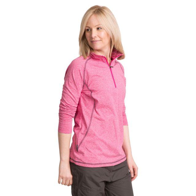 Zirma Women's 1/2 Zip Long Sleeve Active Top in Pink
